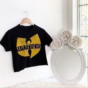 Black Cropped Wu-Tang T-shirt